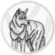 Coyote Round Beach Towel