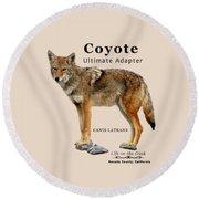 Coyote Ultimate Adaptor Round Beach Towel
