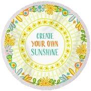 Create Your Own Sunshine Round Beach Towel