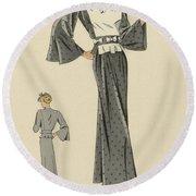 Creations De Haute Couture Round Beach Towel
