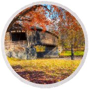 Round Beach Towel featuring the photograph Crimson Beauty by Russell Pugh