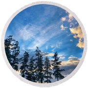 Round Beach Towel featuring the photograph Crisp Skies by Brian Eberly