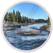 Crooked River Round Beach Towel