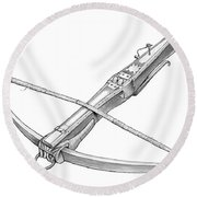 Crossbow Weapon Round Beach Towel