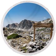 Round Beach Towel featuring the photograph Crossroads At Medicine Bow Peak by Nicole Lloyd