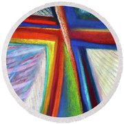 Cruciform #1 Round Beach Towel