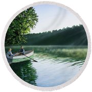 Cruise For Two Round Beach Towel