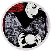 Crystal Ball Round Beach Towel