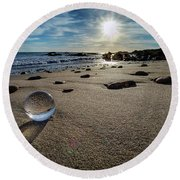 Crystal Ball Sunset Round Beach Towel