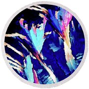 Crystal C Abstract Round Beach Towel