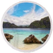 Crystal Clear Round Beach Towel