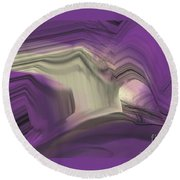 Crystal Journey Round Beach Towel