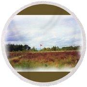 Culloden Battlefield Painting Round Beach Towel