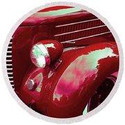 Custom 1936 Ford Nash Grill Round Beach Towel