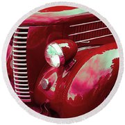 Custom 1936 Ford Nash Grill Round Beach Towel