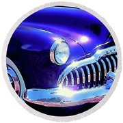 Custom 1949 Purple Buick Round Beach Towel