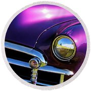 Custom Purple Chevy Round Beach Towel