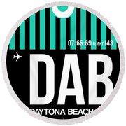 Dab Daytona Beach Luggage Tag II Round Beach Towel