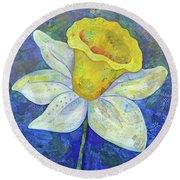 Daffodil Festival II Round Beach Towel