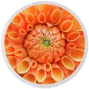 Dahlia Sylvia Flower Round Beach Towel