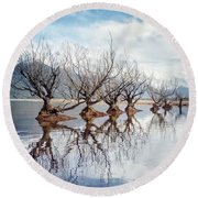 Dance Of The Trees Round Beach Towel