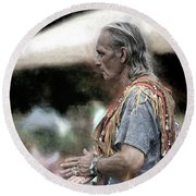 Round Beach Towel featuring the photograph Dance Of The Woodland Elder by Wayne King