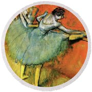 Dancers On The Pole - Digital Remastered Edition Round Beach Towel