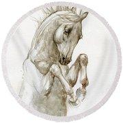 Dancing Horse 2019 05 13 Round Beach Towel