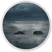Dark And Stormy Round Beach Towel