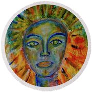 Daughter Of The Sun And Moon Round Beach Towel