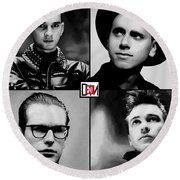 Dave, Martin, Fletch And Alan From 101 Tshirt Round Beach Towel