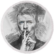 David Bowie. Round Beach Towel