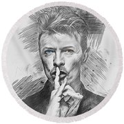 David Bowie. Round Beach Towel