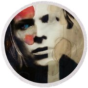 David Bowie - This Is Not America  Round Beach Towel