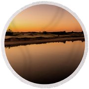 Dawn Light, Ogunquit River Round Beach Towel