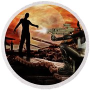 Dawn Of The Dead Round Beach Towel