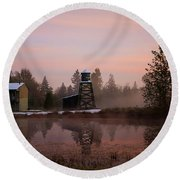 Round Beach Towel featuring the photograph Dawning Of A New Day - Hope Valley Art by Jordan Blackstone
