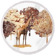 Round Beach Towel featuring the digital art Day Dreaming by Mike Braun