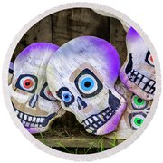 Day Of The Dead Decorations Round Beach Towel