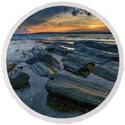 Day's End In Kettle Cove Round Beach Towel