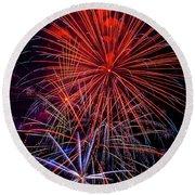 Dazzling Bright Fireworks Round Beach Towel