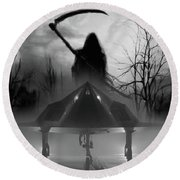 Death Is Coming For You Round Beach Towel