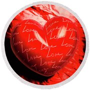 Decorated Romance Round Beach Towel