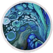 Deep Blue Something Round Beach Towel