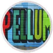 Deep Ellum Wall Art Round Beach Towel