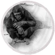 Deep Thought Round Beach Towel