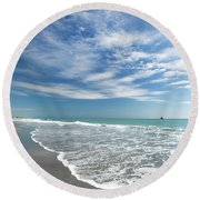 Delray Beach Florida Round Beach Towel