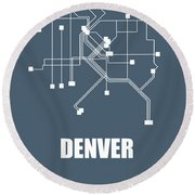 Denver Subway Map Round Beach Towel