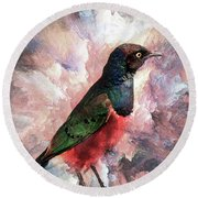 Desaturated Starling Round Beach Towel