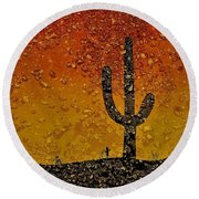 Desert Dreams Round Beach Towel